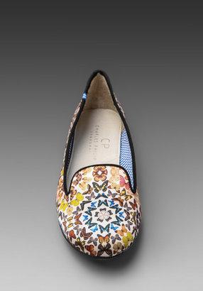 Charles Philip Shanghai Yasmine Butterfly Kaleidoscopes Flat in White/Multi