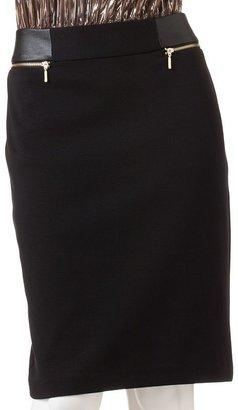 JLO by Jennifer Lopez faux-leather pencil skirt