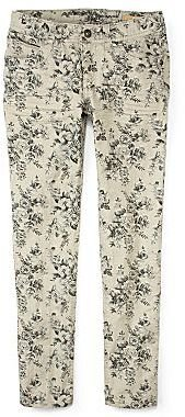 Arizona Taupe Floral Skinny Jeans – Girls 4-16