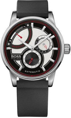 HUGO BOSS Watch, Men's Automatic Black Silicone Strap 1512596