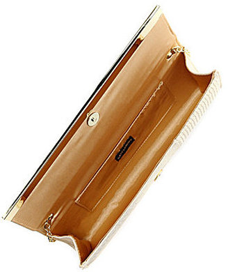 Kate Landry Metal Bar Flap Clutch