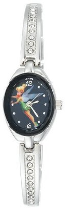 Disney Women's TK2007 Tinkerbell Blue Dial Silver-Tone Half Bangle Link Watch $22.99 thestylecure.com