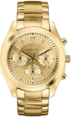 Caravelle New York by Bulova Women's Chronograph Gold-Tone Stainless Steel Bracelet Watch 36mm 44L118 $125 thestylecure.com