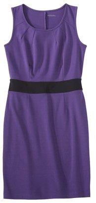 Merona Petite Sleeveless Colorblock Ponte Dress - Assorted Colors