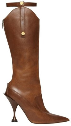 Burberry Monogram Motif Stud Detail Leather Boots