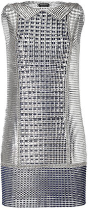 Paco Rabanne Chain Metal Shirt Style Short Dress