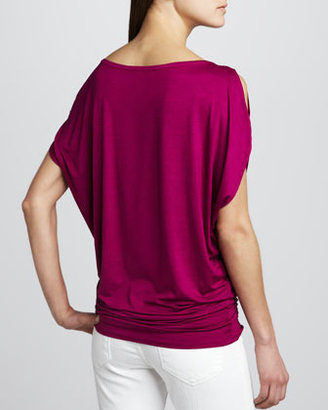Three Dots Shoulder Cutout Tunic