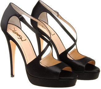 Yves Saint Laurent Satin X front shoe