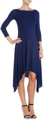 BCBGMAXAZRIA Bess Off-the-Shoulder Asymmetrical Dress