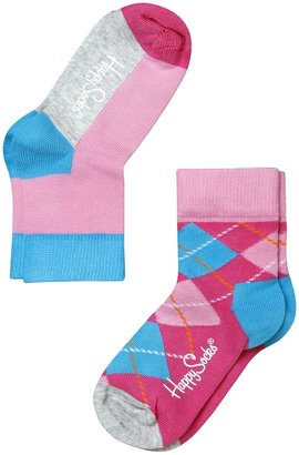 Happy Socks 2 Pk Kids Combed Cotton Anklet