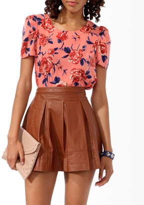 Forever 21 Bold Floral Print Blouse