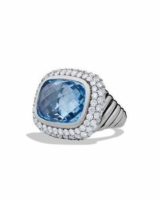 David Yurman Waverly Limited-Edition Ring with Blue Topaz and Diamonds $6,700 thestylecure.com