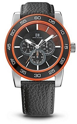 HUGO BOSS HO303 Chronograph Pebbled Leather Strap Watch - Assorted Pre-Pack