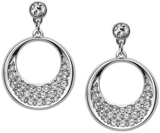 Swarovski Earrings, Pave Crystal Circle Drop Earrings