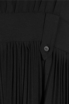 Karl Lagerfeld Dewi washed-satin gown