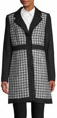 Karl Lagerfeld PARIS Checkered Tweed Jacket
