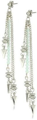 "Shashi Crystal Collection"" Mint Dessa Earrings"