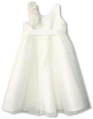 Us Angels Empire Dress w/ Cascade of Rossettes (Big Kids)