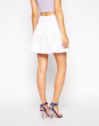 Asos Textured Skater Skirt