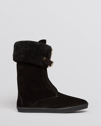 Burberry Boots - Stanmore Shearling Foldover