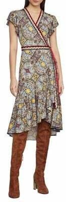 BCBGMAXAZRIA Festival Paisley Wrap Dress