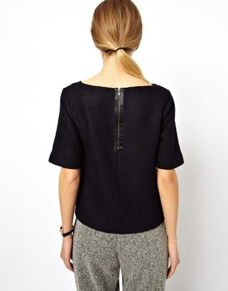 Asos Shell Top in Winter Boucle