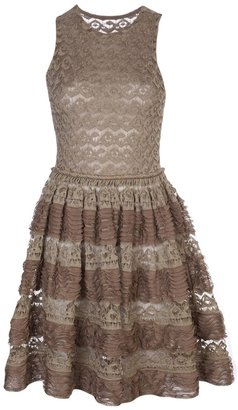 Alaia sleeveless lace dress