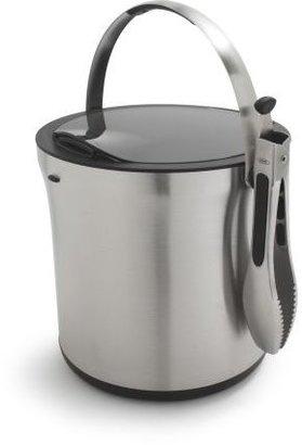 OXO Steel Ice Bucket and Ice Tongs