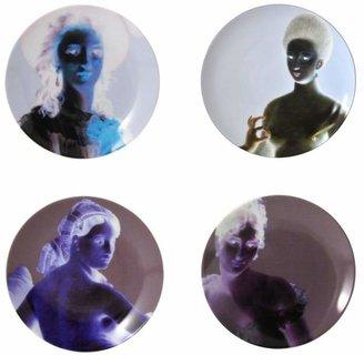 Bernardaud Portraits Classiques Dinner Plates, Set of 4