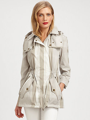 Burberry Check Rain Jacket