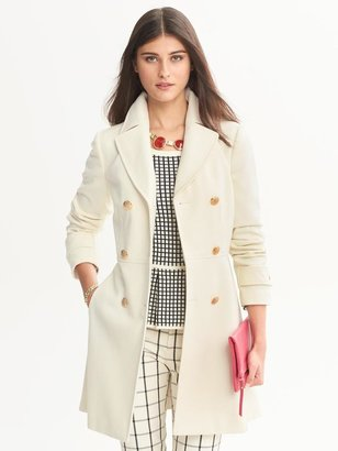 Banana Republic Fit-and-Flare Wool Coat