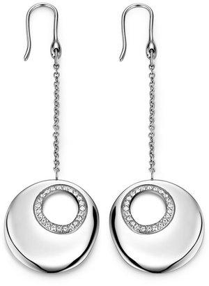 Breil Milano Earrings, Stainless Steel Swarovski Crystal Circle Earrings