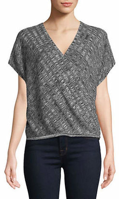 Eileen Fisher Silk-Linen Blend Surplice Top