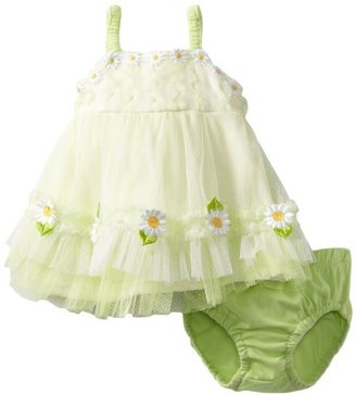 Nannette Baby, Baby-girls Newborn 2 Piece Daisy Knit Dress And Panty
