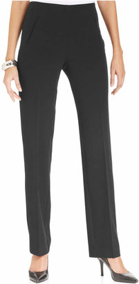 Style & Co Tummy-Control Pull-On Straight-leg Pants $27.98 thestylecure.com