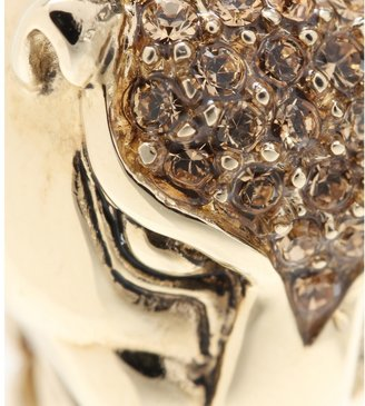 Roberto Cavalli Gold-plated clip-on earrings