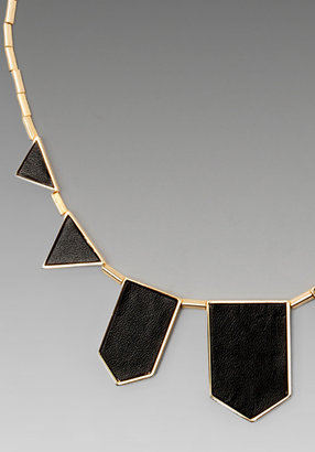 House Of Harlow Black Leather Necklace