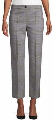 Theory Portland Windowpane Wool-Blend Pants