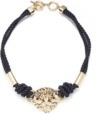Anne Klein Rope Necklace with Lion Head