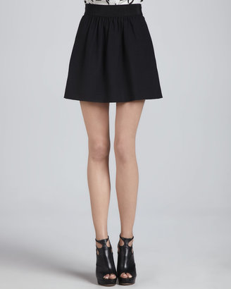 Milly Gathered, A-Line Crepe Skirt