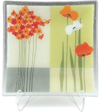 Peggy Karr Glass Square Serving Plate