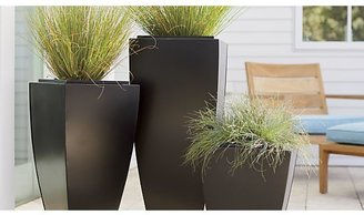 """Crate & Barrel Bronze 33.75"""" Tall Tapered Planter"""