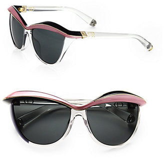 Christian Dior Demoiselle Plastic Cat's-Eye Sunglasses