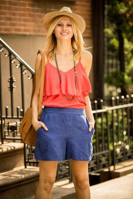 Raquel Allegra Retro Zipper Shorts