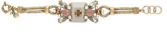 J.Crew Crystal and stone row bracelet