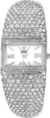 Badgley Mischka Square Crystal Bangle Watch