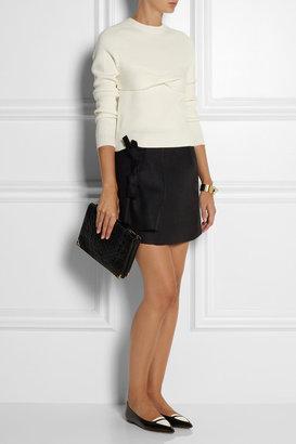 J.W.Anderson Bow-embellished wool-felt mini skirt
