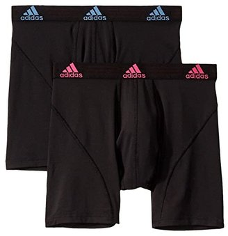adidas Sport Performance ClimaLite(r) 2-Pack Boxer Brief (Grey/Legend Ink Blue/Solar Orange/Legend Ink Blue) Men's Underwear