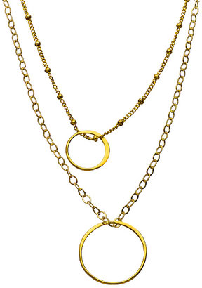 Athena Designs Double Chain Double Ring Necklace