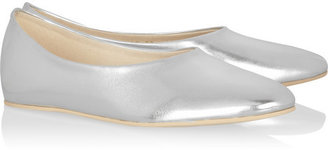 Stella McCartney Metallic faux leather ballet flats